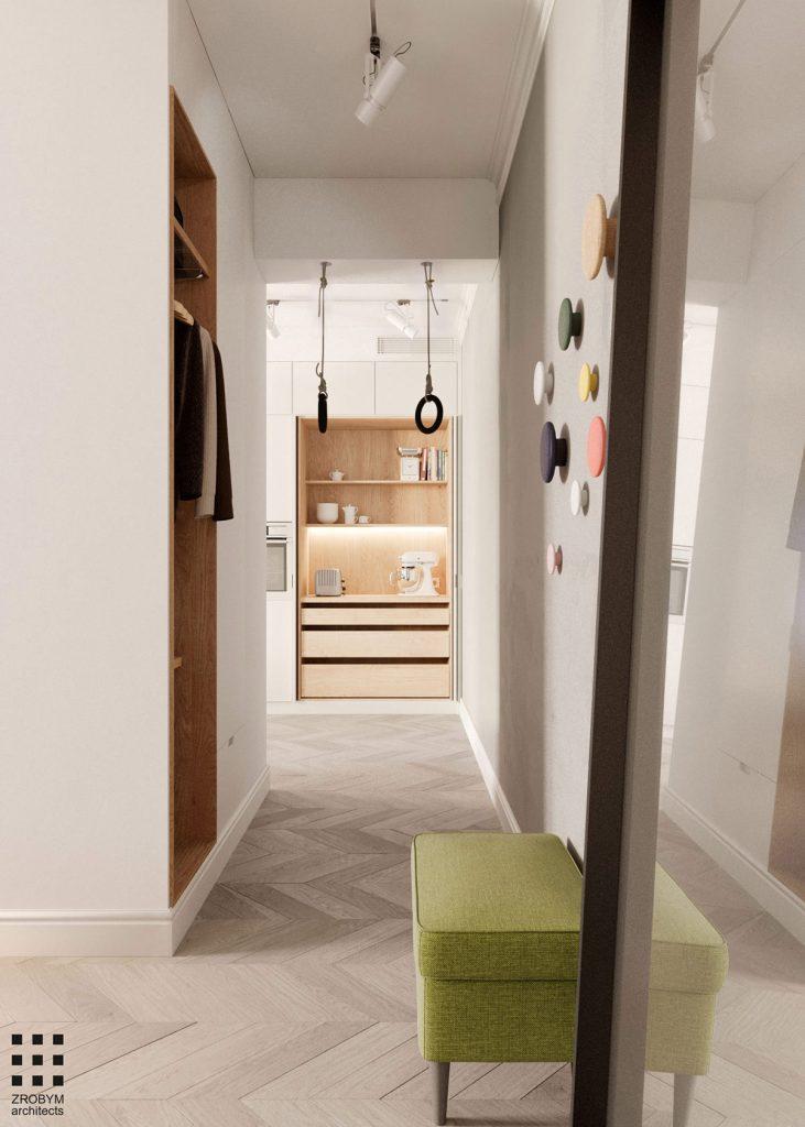 Une maison monochrome couloir et chambre
