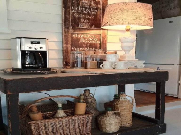 Un bar à café rustique