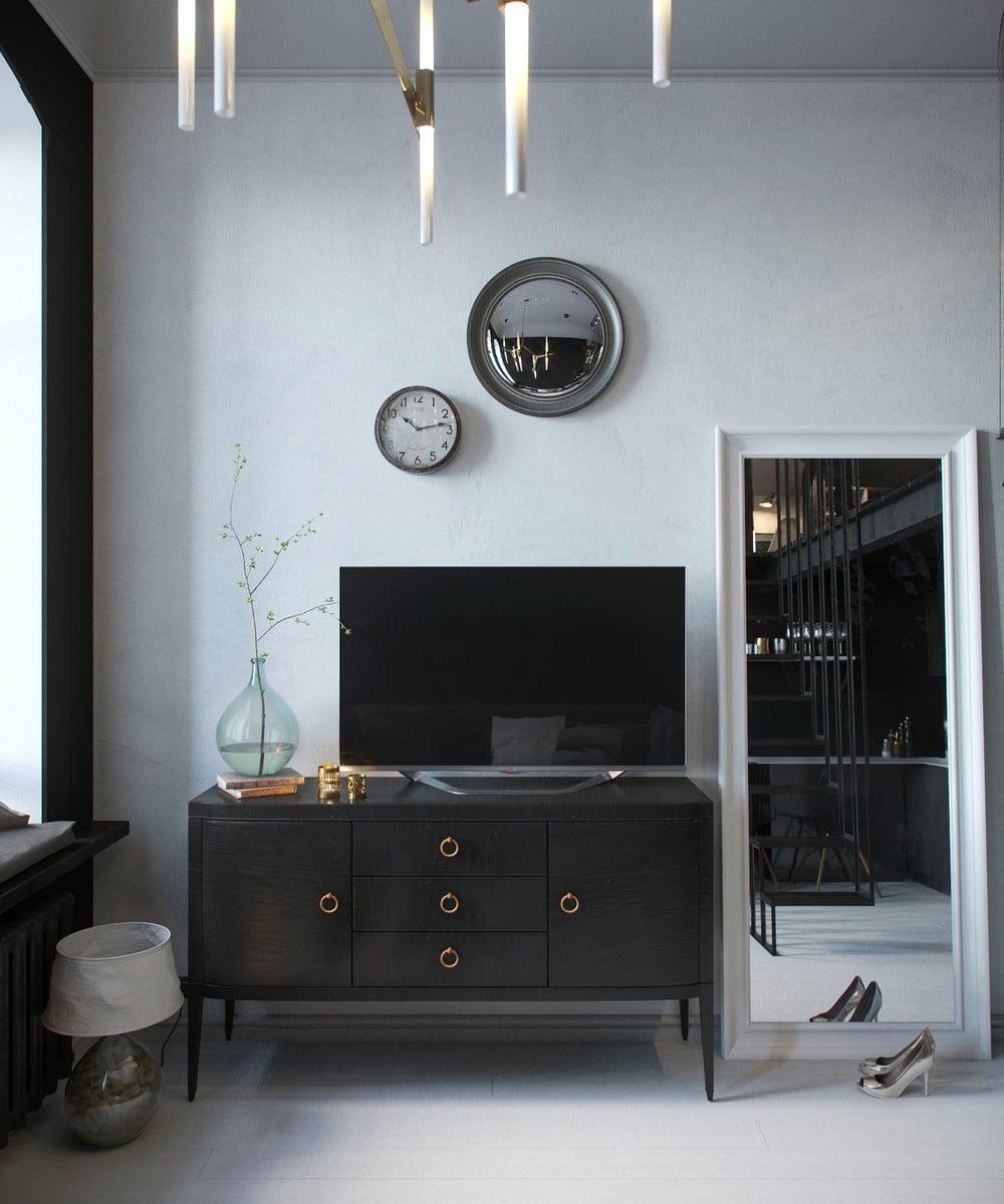 Aménager un appartement de 30 m²   un clair et un sombre