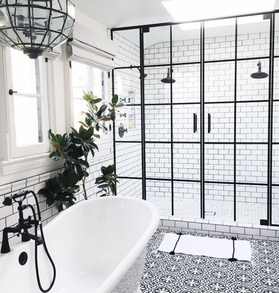 21 Idees Deco De Salle De Bain En Noir Et Blanc Deco Tendency