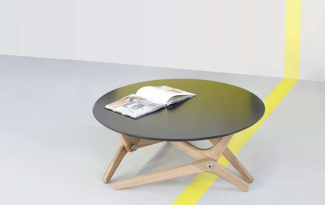 table basse relevable Karim Fargeau Boulon Blanc