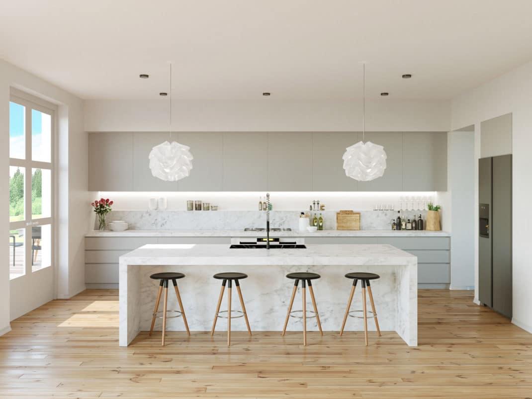 17 cuisines grises et blanches déco et design  Deco Tendency