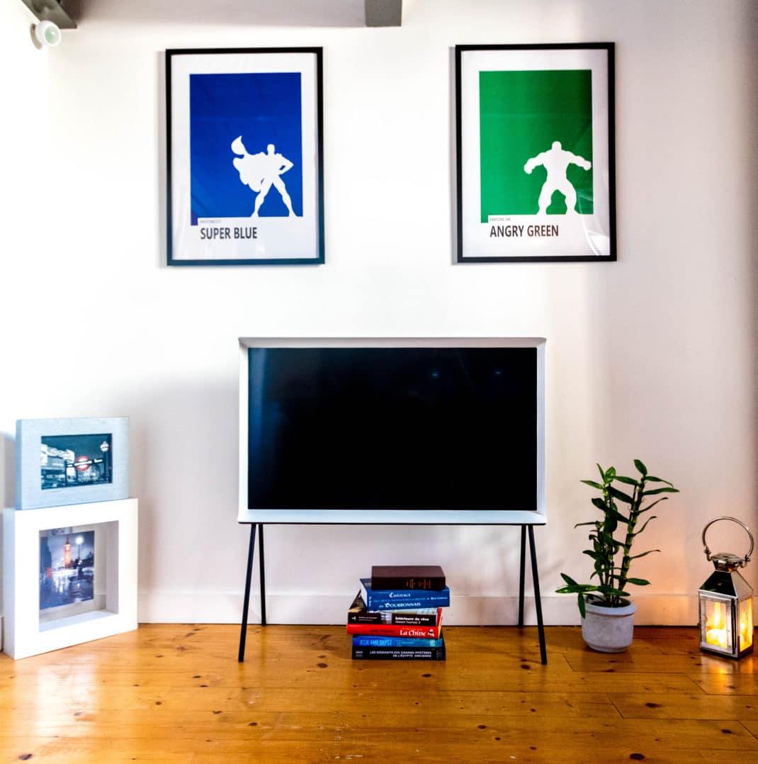 Idee Tv Au Mur serif tv – avis et test de la télévision design de samsung