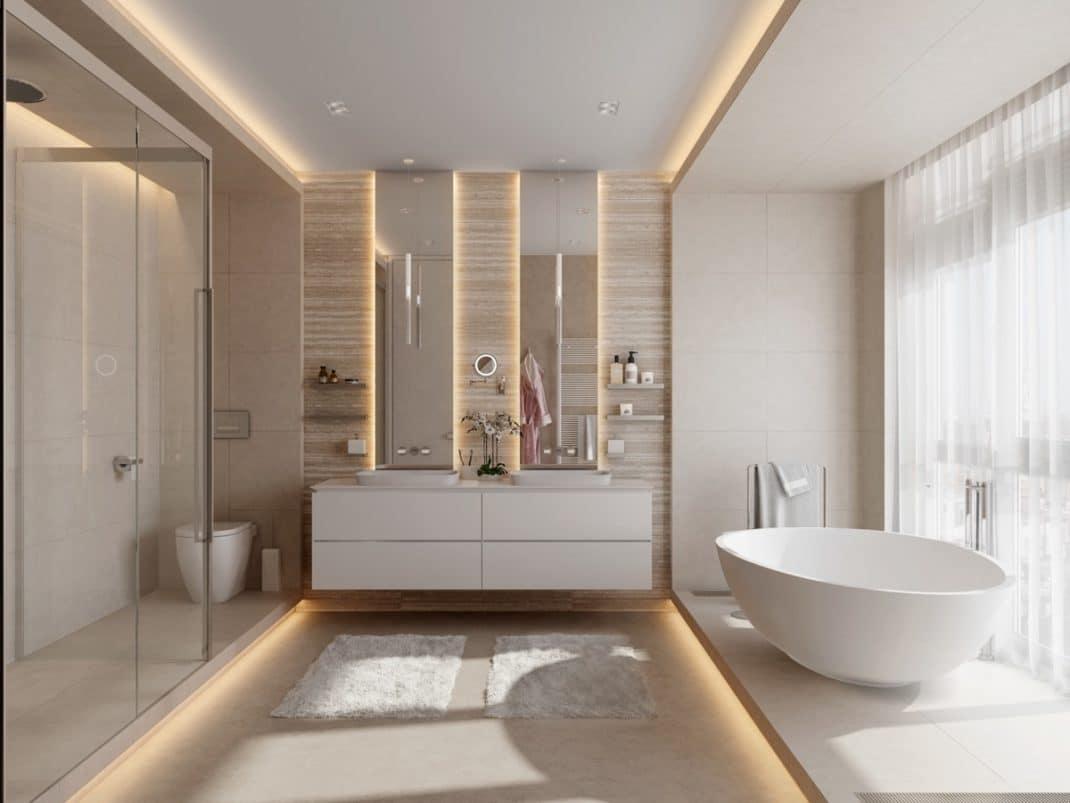 Espace Entre 2 Vasques 40 idées de salles de bain à double vasques hyper déco !