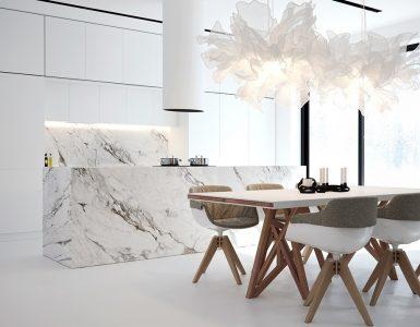 Une cuisine de rêve en marbre